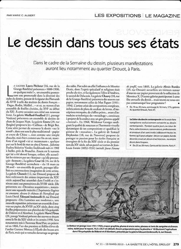Gazette Drouot 11-19 mars 2010